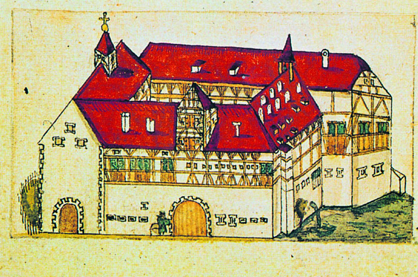 1482 hatte Graf Eberhard im Schönbuch das Jagdschloss Einsiedel bacuen lassen, zehn Jahre später das Stift St. Peter.