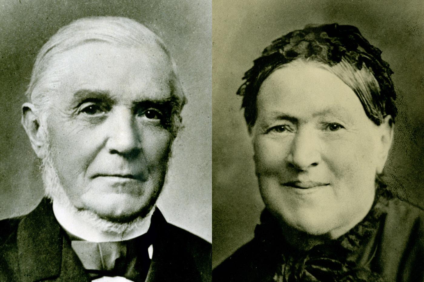 Gottlob Bräuninger (1810-1898) und Wilhelmine, geb. Egeler (1819-1882): Fast hundert Enkel und zwanzig Urenkel kamen zur Goldenen Hochzeit im Jahr 1888.