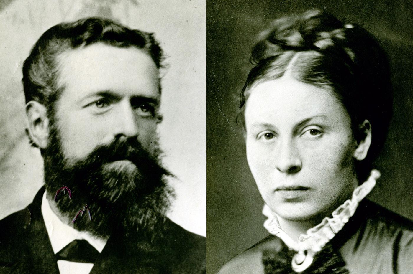 Wilhelm Bräuninger (1847-1931) und seine Frau Rose (1845-1918), die Pächter des Hofgutes Hammetweil.
